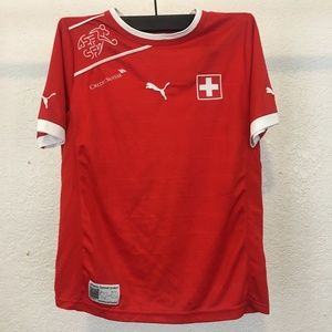 Puma and Credit Suisse Red Junior's T-Shirt